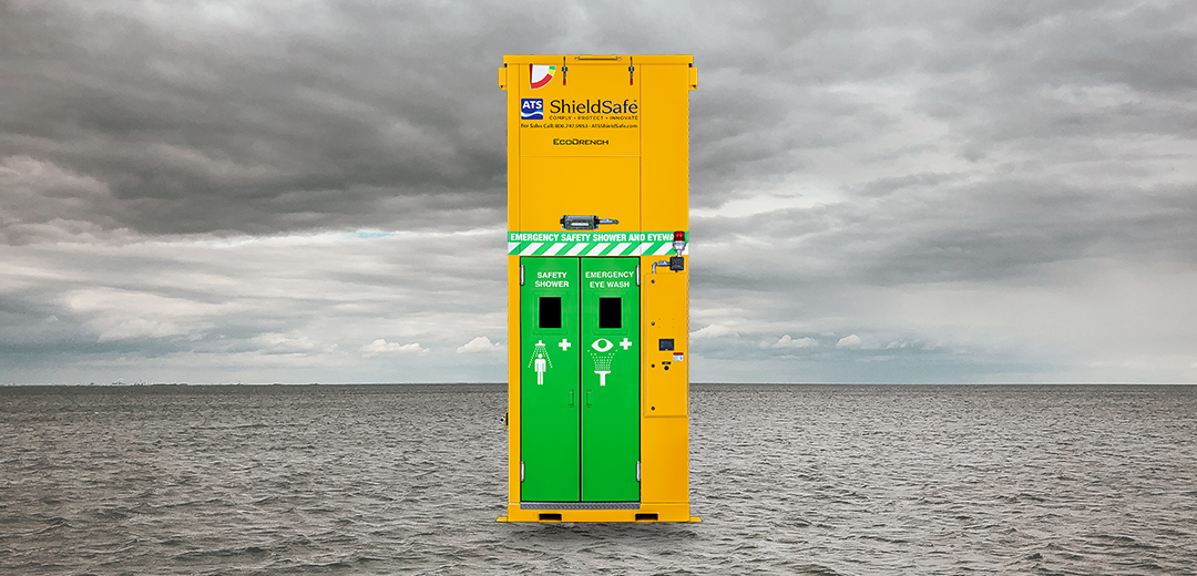Discover Why Steel Industrial Safety Showers Are Best for Hurricane-Strength Winds